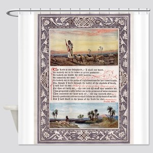 Lords Prayer Psalm 23 1880 Shower Curtain