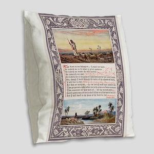 Lords Prayer Psalm 23 1880 Burlap Throw Pillow