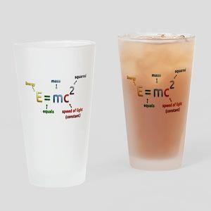 Mass-Energy_Equivalence_Formula Drinking Glass