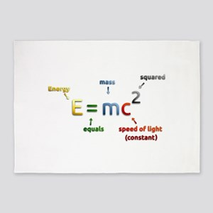 Mass-Energy_Equivalence_Formula 5'x7'Area Rug