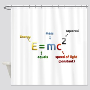 Mass-Energy_Equivalence_Formula Shower Curtain
