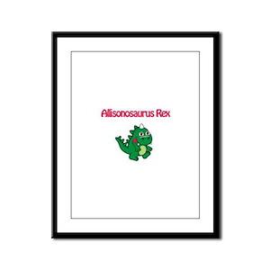 Allisonosaurus Rex Framed Panel Print