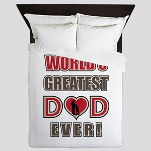 World's Greatest Dad Fishing Queen Duvet