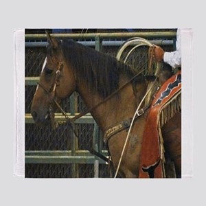 Rodeo Horse Throw Blanket