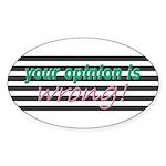 Opinion Oval Sticker