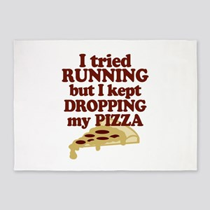 Running With Pizza 5'x7'Area Rug