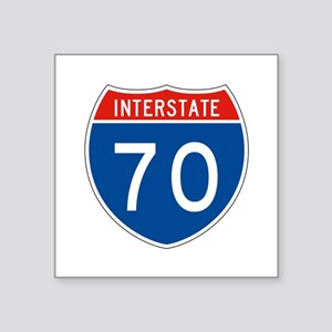 "Interstate 70, USA Square Sticker 3"" x 3"""