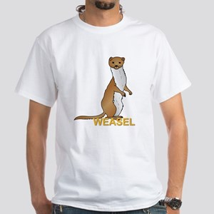 Weasel White T-Shirt