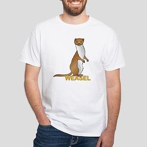 Weasel White T-Shirt