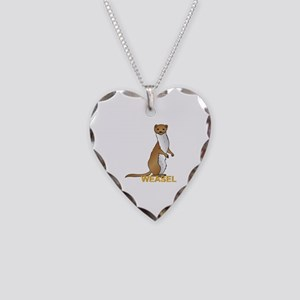 Weasel Necklace Heart Charm