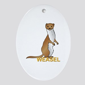 Weasel Oval Ornament