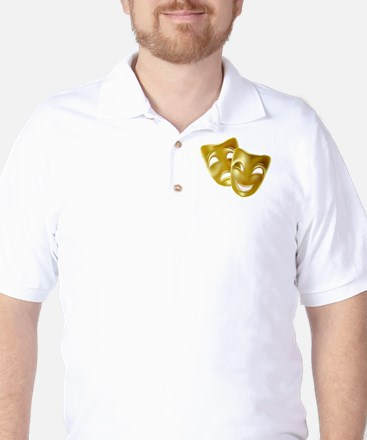 Masks of Comedy and Tragedy Golf Shirt