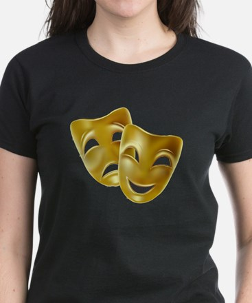 Masks of Comedy and Tragedy Women's Dark T-Shirt