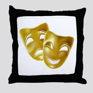 Masks of Comedy and Tragedy Throw Pillow