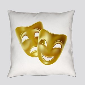 Masks of Comedy and Tragedy Everyday Pillow