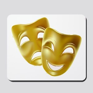 Masks of Comedy and Tragedy Mousepad