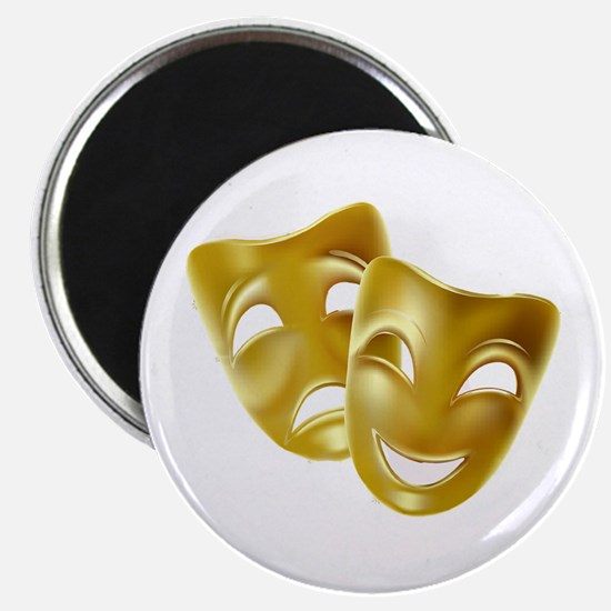 """Masks of Comedy and Tragedy 2.25"""" Magnet (10 pack)"""