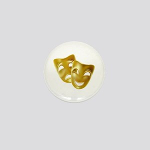 Masks of Comedy and Tragedy Mini Button