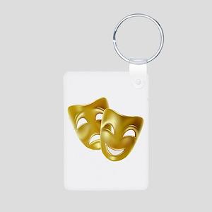 Masks of Comedy and Traged Aluminum Photo Keychain