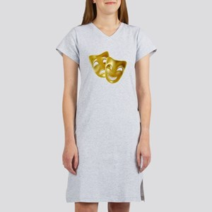 Masks of Comedy and Tragedy Women's Nightshirt