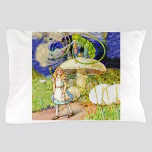 Alice and the Caterpillar Pillow Case