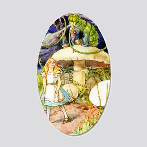 Alice and the Caterpillar 20x12 Oval Wall Decal