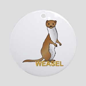 Weasel Ornament (Round)