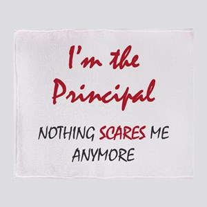 Nothing Scares Principal Throw Blanket