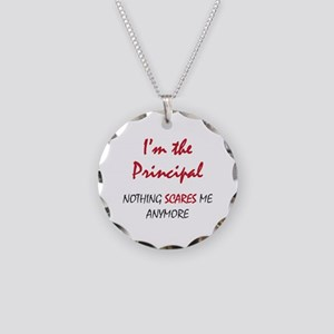 Nothing Scares Principal Necklace Circle Charm