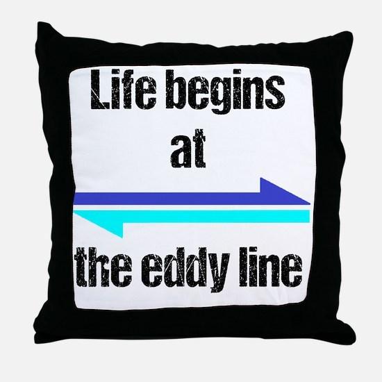 Funny Kayaking Throw Pillow