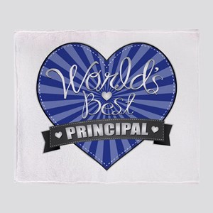 Best Principal Heart Throw Blanket