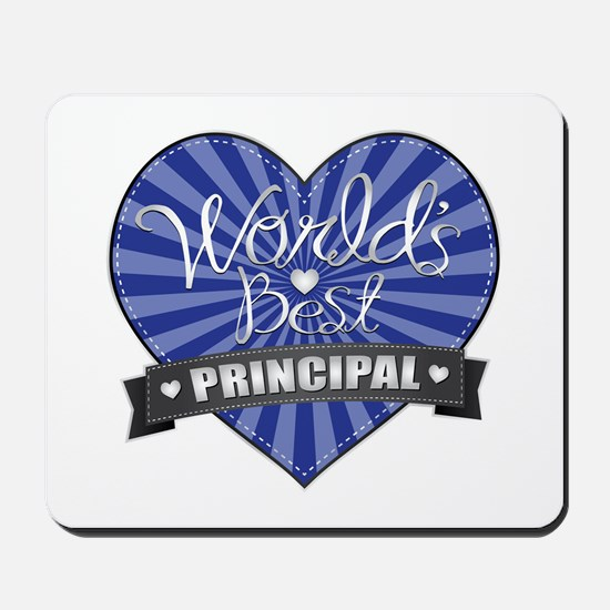Best Principal Heart Mousepad