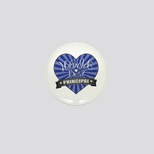 Best Principal Heart Mini Button