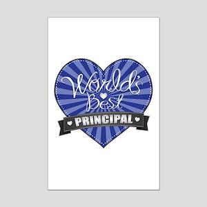 Best Principal Heart Mini Poster Print
