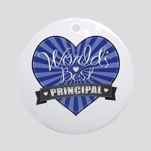 Best Principal Heart Ornament (Round)
