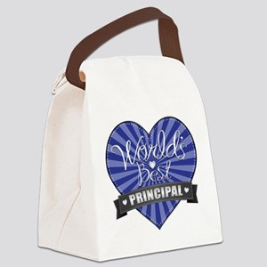 Best Principal Heart Canvas Lunch Bag