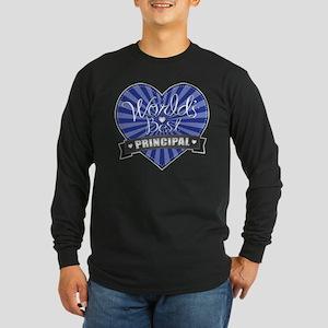 Best Principal Heart Long Sleeve Dark T-Shirt