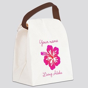 Living Aloha (personalized) Canvas Lunch Bag