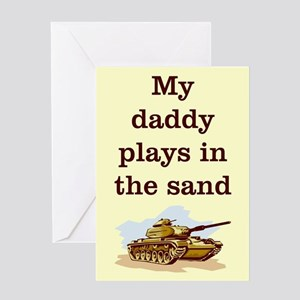 DADDY PLAYS IN THE SAND Greeting Card