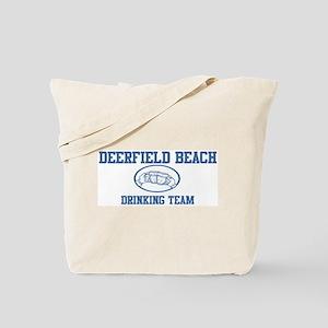 DEERFIELD BEACH drinking team Tote Bag