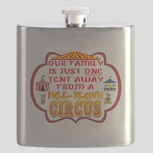 FAMILY HUMOR: FULL BLOWN CIRCUS Flask