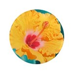 Orange Tropical Flower on Teal 3.5