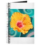 Orange Tropical Flower on Teal Journal
