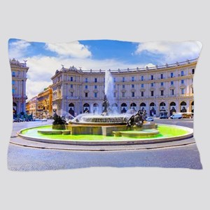 Rome, Italy - Fountain roundabout outs Pillow Case