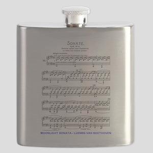 Moonlight-Sonata-Ludwig-Beethoven Flask