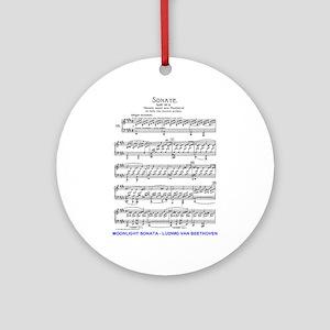 Moonlight-Sonata-Ludwig-Beethoven Ornament (Round)
