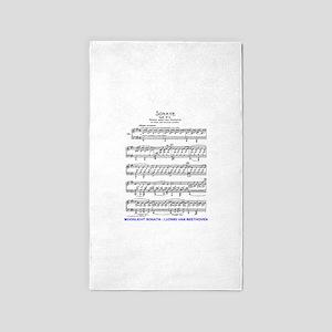 Moonlight-Sonata-Ludwig-Beethoven Area Rug