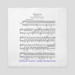 Moonlight-Sonata-Ludwig-Beethoven Queen Duvet