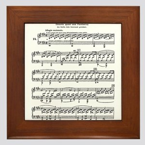 Moonlight-Sonata-Ludwig-Beethoven Framed Tile