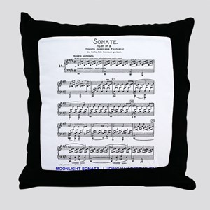 Moonlight-Sonata-Ludwig-Beethoven Throw Pillow